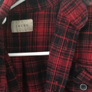 Jachs red and black flannel